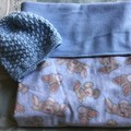 Baby Blanket Bunnies Blue