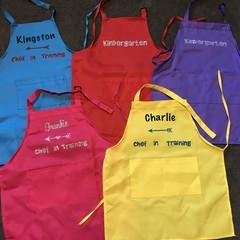 Kids personalised apron
