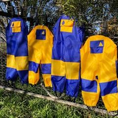 Wet weather overalls rain pants - custom made
