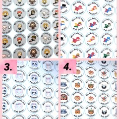 Personalised custom teacher merit stickers