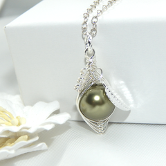 Peas In A Pod Necklace,One Pea In A Pod Necklace Choose Your Colour Pearl