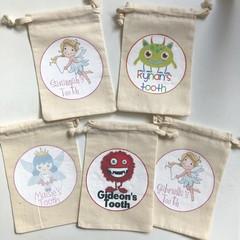 Personalised custom tooth fairy bag