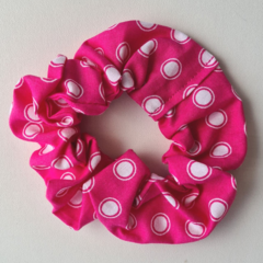 Pink with White Spots Scrunchy