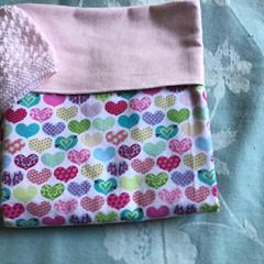 Baby Blanket Hearts Pink