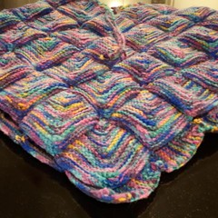 Warm and colourful poncho