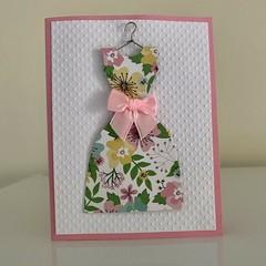Handmade Card - Pretty Retro Floral Vintage Dress All Occasion Card