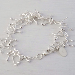 Sterling Silver and Fine Silver organic, kinetic Bracelet