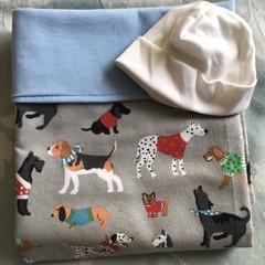 Baby Blanket Doggies Blue
