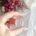 Aqua Aura pendant - Rose Gold 45cm
