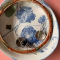Bright Blue Flowers Porcelain Bowl