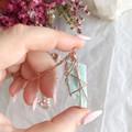 Raw Amazonite pendant - Rose Gold 70cm