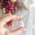 Rose Quartz pendant - Rose Gold 50cm
