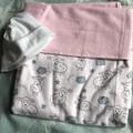 Baby Blanket Lambs Pink