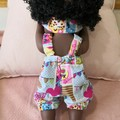 Baby Doll Rompers/hair bow shop kins print