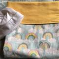 Baby Blanket Rainbows Yellow