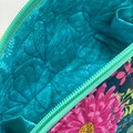 Clam Up Extra Large Cosmetic Bag-Butterfly Gardens