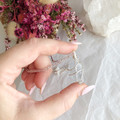 Celestite pendant - Rose Gold 45cm