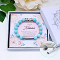 Turquoise Wish Bracelet for Nanna | Personalised Jewellery | Secret Message