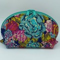 Clam Up Extra Large Cosmetic Bag-Painted Flowers