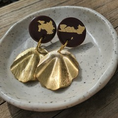 Brown & gold dangles