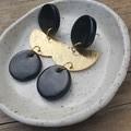 Black & gold dangles