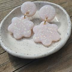 Opal flower dangles