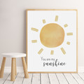 """BOHO YOU ARE MY SUNSHINE  prints -Set of 3  Art Prints -  8x10"""" in size"""