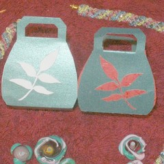 Template, handbag shaped gift box, packaging wedding  favor box, and more