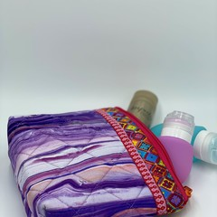 Small Zipper Pouches-Purple Oceans Swirls