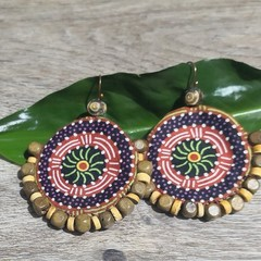 Indigenous Wood Fabric Earrings