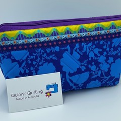 Large Zipper Pouches-Ocean Flowers