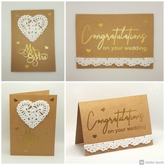 Handmade Wedding Card with Crochet Lace