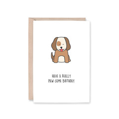 Paw-some Birthday Card | Dog, Puppy | Birthday (Funny, Pun, Recycled)