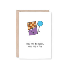Choc Full Of Fun Card | Chocolate | Birthday (Funny, Pun, Recycled)