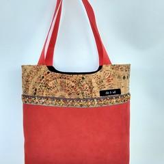 SUEDE & CORK Handbag
