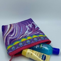 Small Zipper Pouches-Amethyst River