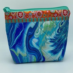 Small Zipper Pouches-Ocean Swirls