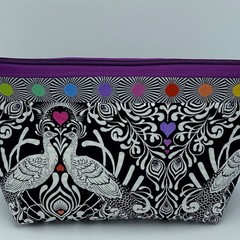Large Zipper Pouches-Love Birds