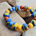 "Polymer Clay Stretch Bracelet ""Summer Daze"""