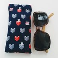 Fabric Glasses Sleeve / Padded Glasses case / BOOKWORM CAT / Gift for mum