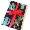 ➕GIFT SET➕ Passport Cover & Key wristlet Set / BLACK -Cactus