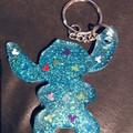 Stitch KEY CHAIN ~ Resin ~ Glitter ~ Disney ~  Accessory