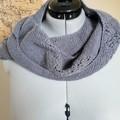 Asymmetric lacework shawl