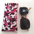 Fabric Glasses Sleeve / Padded Glasses case / CAMO PANDA -PINK / Gift for her