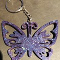 Butterfly ~ key tag ~ resin