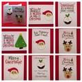 Handmade Christmas Card with Crochet Ornament - White