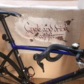 Cycle and drink coffee mantra tea towel!