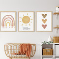 "BOHO YOU ARE MY SUNSHINE  prints -Set of 3  Art Prints -  8x10"" in size"