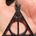 Harry Potter ~ Deathly Hallows ~ KEY CHAIN ~ Resin ~ Glitter ~ Accessory