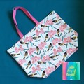 Honeyeater and Gum blossoms Tote Bag